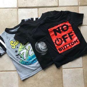 Bundle of 3 toddler boy t-shirts 2T